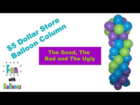 $5 Dollar Store Balloon Columns