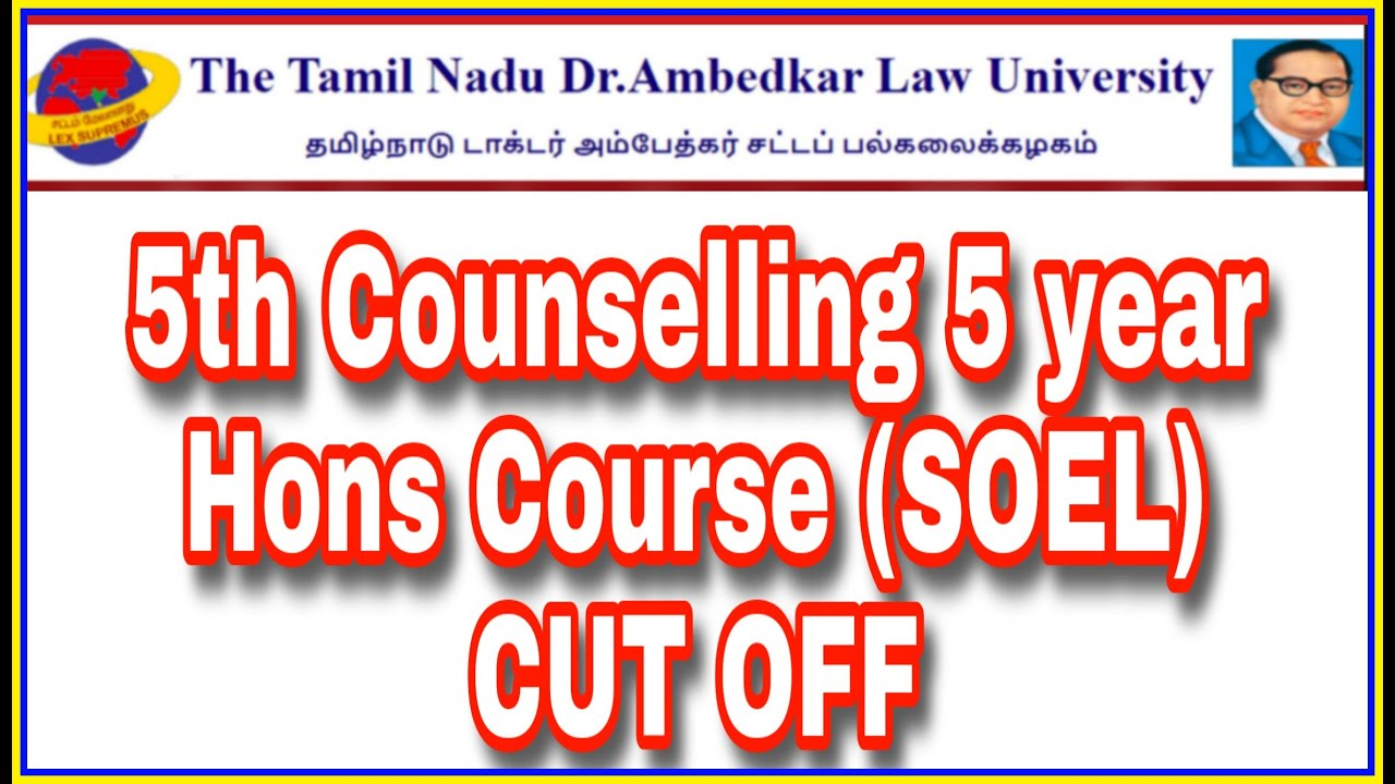 5th Counselling 5 year Hons Course SOEL CUT OFF || Law Admissions 2020-2021