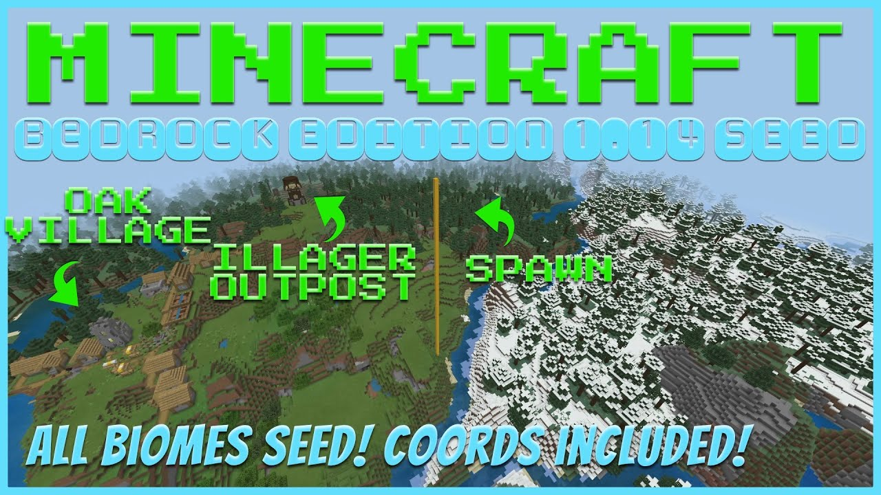 All Biomes Snowy Tundra Seed Mar 2020 Tanisha S Craft