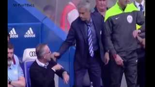 Jose Mourinho handshake snubbed by Paul Lambert and Roy Keane_Chelsea vs Aston Villa 2014
