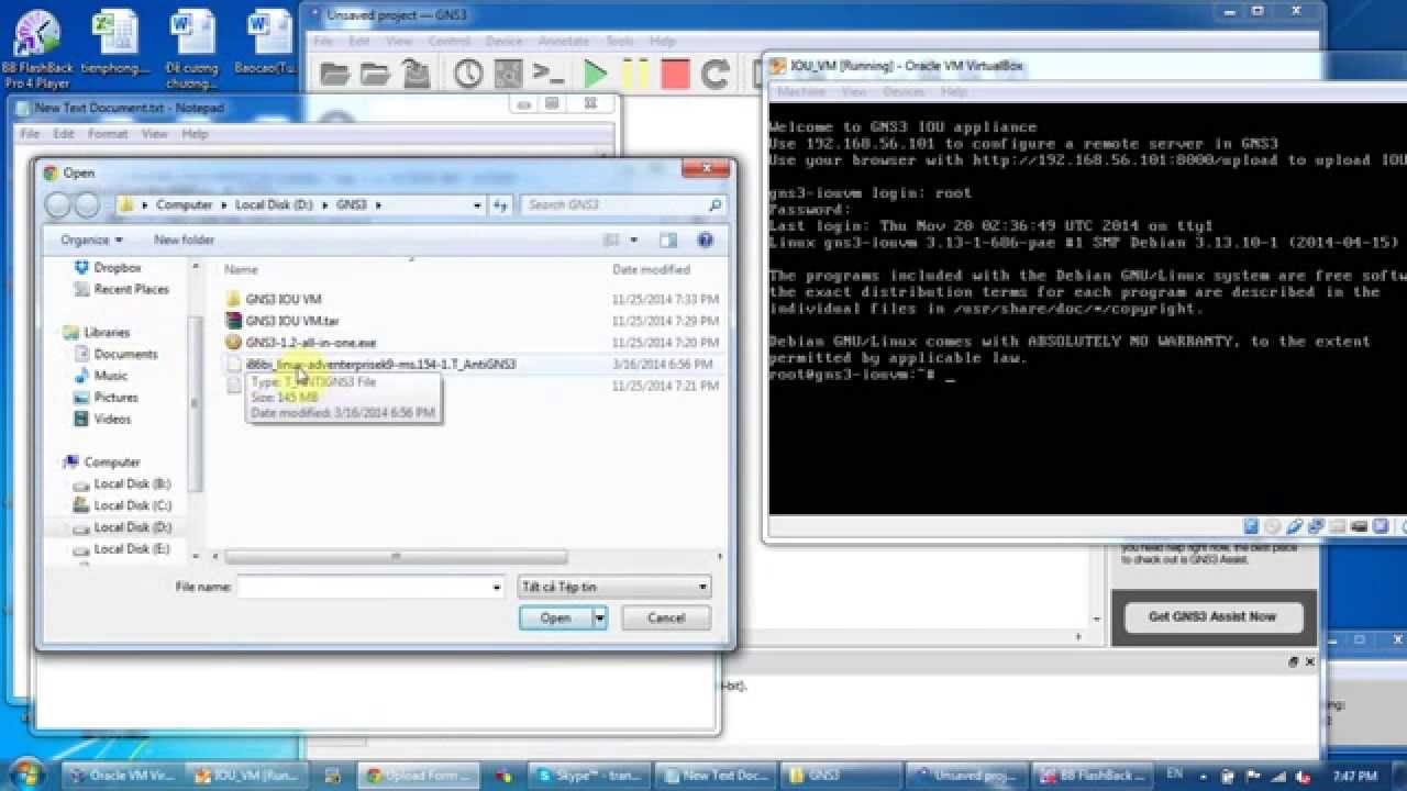 how to use gns3 vm