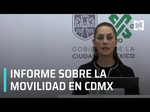 Mensaje de la Jefa de Gobierno sobre la movilidad en CDMX