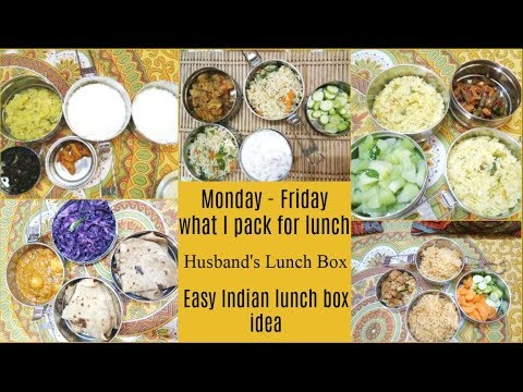 WHAT I PREPARED FOR MY HUSBAND'S LUNCH BOX II WEEK MEAL PLAN II INDIAN LUNCH BOX IDEA