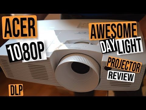 ACER HD H6517ABD 1080P 3D DLP BUDGET PROJECTOR REVIEW: AWESOME DAYLIGHT PERFORMANCE - MUST SEE !