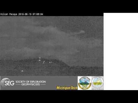 2016-08-19 night time-lapse video of Pacaya volcano, Guatemala
