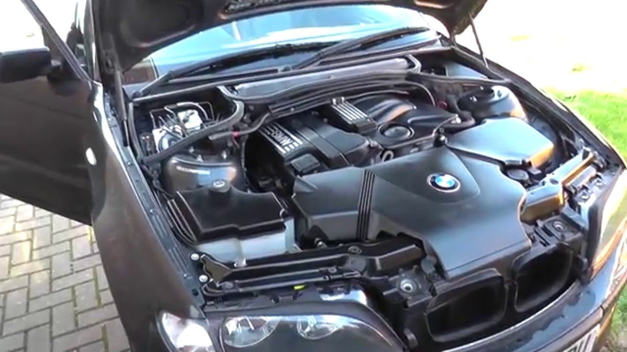 Bmw e46 3 series engine oil top up location youtube for Bmw 335i motor oil