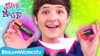 Shocking Paper Battery Trick | JUNK DRAWER MAGIC