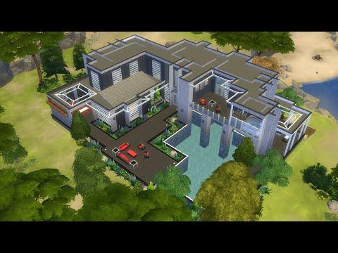 Sims 4 indoor-outdoor pool