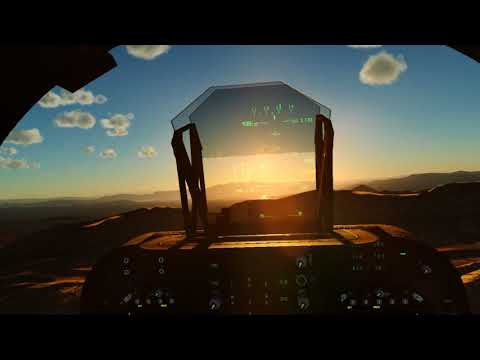 Harrier flight over Nevada. (VR)