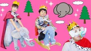 ★ゾウに乗って登場~!「ゾウ王国!!」パオーン!★Elephant Kingdom★ thumbnail
