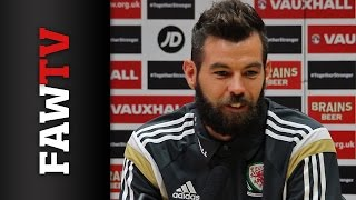 Joe Ledley Pre Wales v Bosnia-Herzegovina and Cyprus