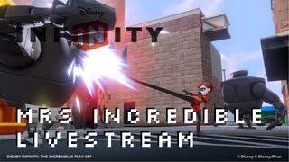 Disney Infinity Mrs Incredible Elastigirl Incredibles Playset Livestream XBOX 360