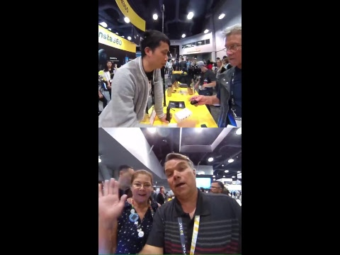 Broadcasting live from Insta360  Booth at NAB.