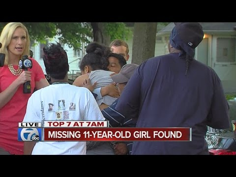 11-year-old girl who disappeared from Hazel Park home reunited with family live on 7 Action News