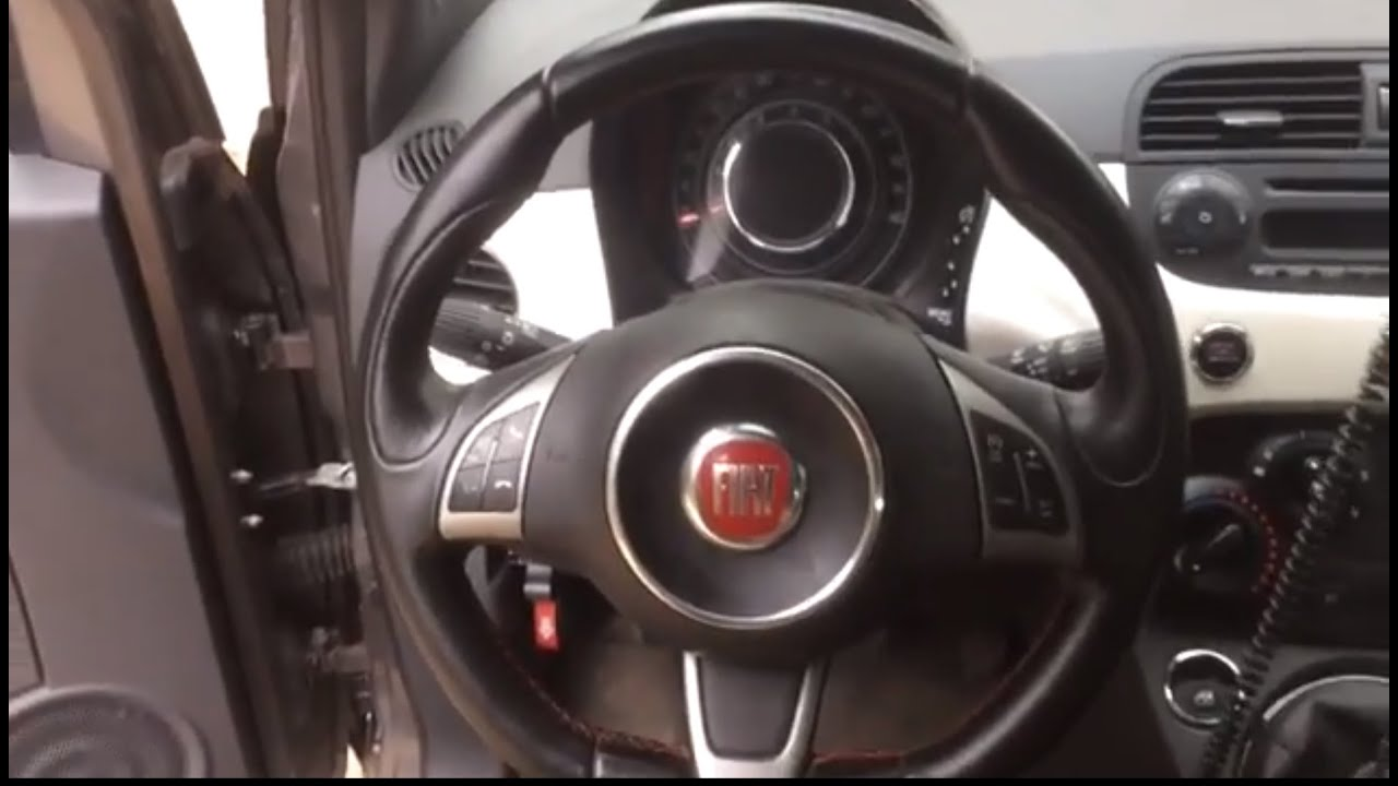 medium resolution of 2012 fiat 500 airbag steering wheel and clock spring remo youtube rh youtube com fiat 500