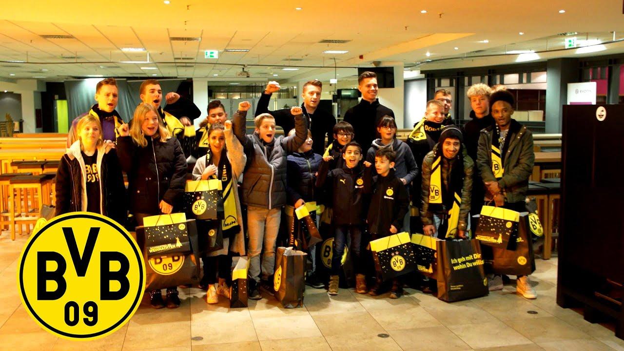 BVB-MANschaftsbus überrascht SOS-Kinderdorf | Meet & Greet mit Julian Weigl & Marco Reus