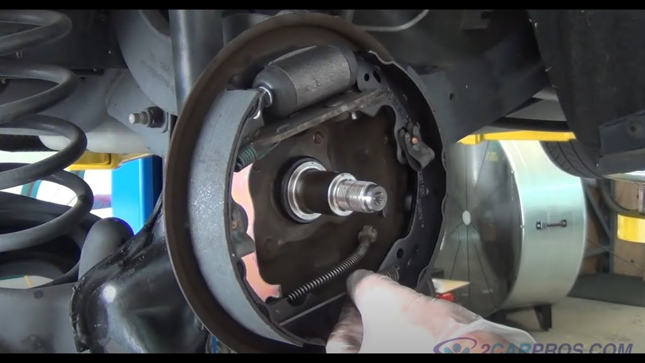 2000 ford focus thermostat diagram richdel sprinkler valve rear brake shoe and wheel cylinder replacement 1999-2005 - youtube