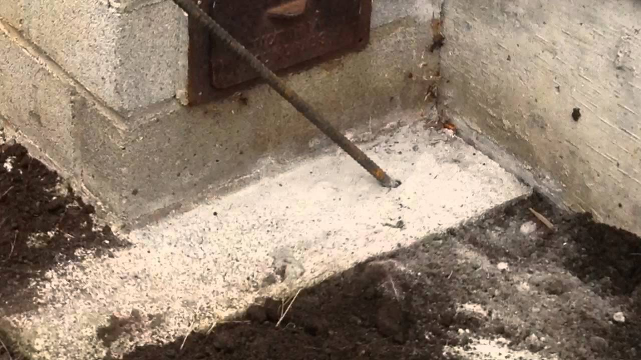 Chimney Foundation Repair Footing Sinking Underpin Amp Wall