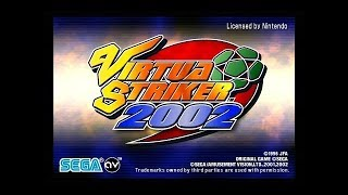Virtua Striker 2002 - em Clima de Copa do Mundo - Game Cube