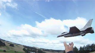Hobbyking X16 Jet, Rc Chuck Glider, Maiden Flight.