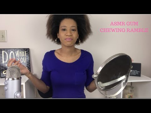 Asmr Gum chewing ramble putting on makeup