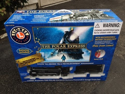 The Polar Express Lionel G Gauge Scale Battery Train – Under the Christmas Tree Toy Electric Review