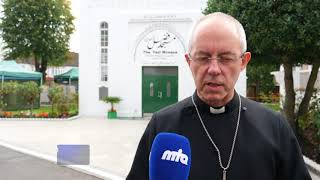 Caliph hosts Archbishop Justin Welby at The London Mosque