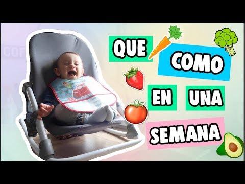 Menu Semanal Bebe 9 Meses Que Come Mi Bebe En Un Dia Recetas Para Bebés Youtube
