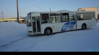 士別軌道 道北バス名寄線 「士別駅前」バスウォッチングビデオ11
