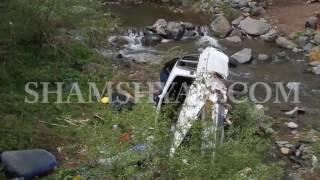 Խոշոր ավտովթար Ալավերդիում  63 ամյա վարորդը «06» ով 8 մետր բարձրությունից ընկել է գետակի մեջ