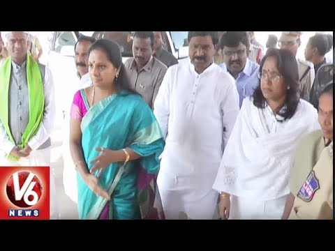 MP Kavitha Pay Tributes To Telangana Folk Artist Chukka Sattaiah | V6 News