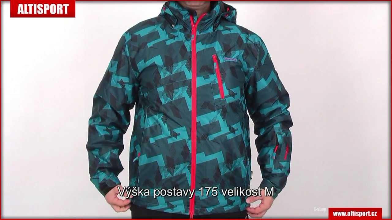3dacf3b052f Zimní bunda pánská ENVY MOTAS MODRÁ - YouTube