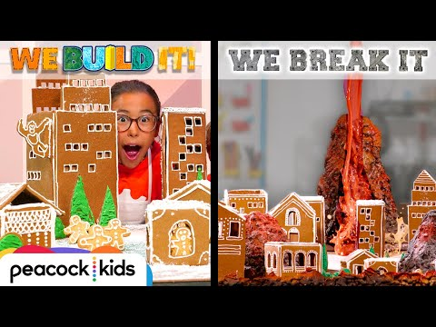 Building Giant Gingerbread City + MELTING IT! | WE BUILD IT WE BREAK IT