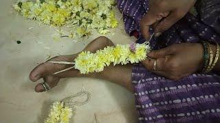 Flower Veni Making | Shevanti chi veni