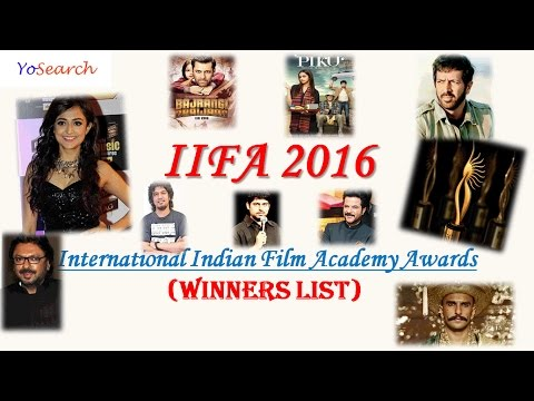 IIFA Awards 2016 | International Indian Film Academy Awards (Winners List)