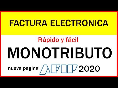 Como hacer FACTURA ELECTRONICA 2020 ✅💯- Monotributo Afip - Paso a paso