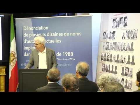 Me William Bourdon à la conférence de presse à Paris 6 septembre sur le #1988Massacre en Iran