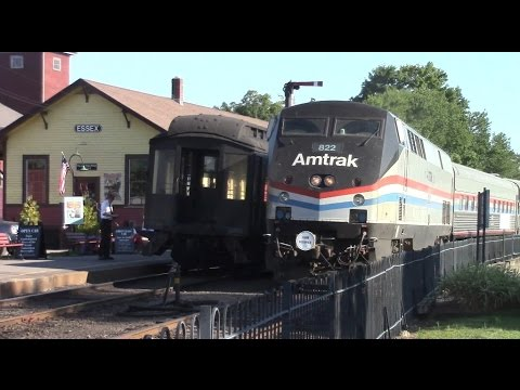 Amtrak Exhibit Train in Essex and Old Saybrook