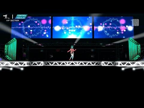 【初音ミク  PDA- ƒ2nd Live Studio VIP】 Cat Food キャットフード 【初音ミク FULL HD 1080p】 English Sub Romaji Lyrics