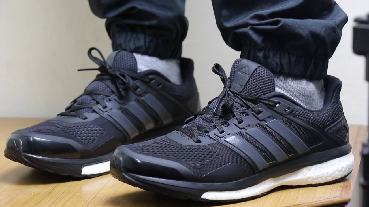adidas men boost supernova glide 8 on feet 360 full view youtube. Black Bedroom Furniture Sets. Home Design Ideas