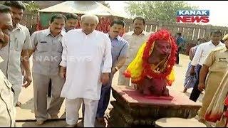 Naveen Patnaik Visits Taratarini Temple Before Filing Nomination thumbnail