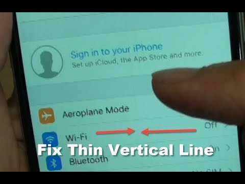 iPhone 6: How to Fix Thin Vertical Line Problem