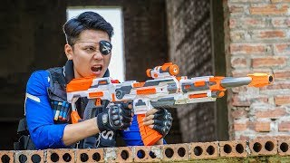 LTT Game Nerf War : Squad Warriors SEAL X Nerf Guns Fight Criminal Group Inhuman One Eye
