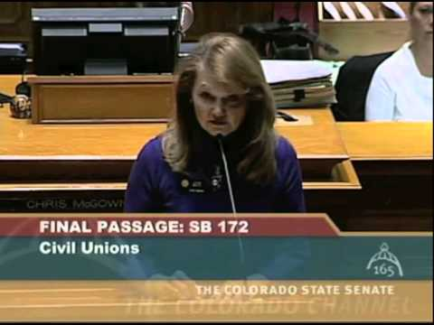 Sen Jean White (R) supports civil unions for her gay relatives - Colorado