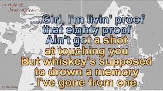 Jason Aldean - Drowns the Whiskey (feat  Miranda Lambert) Instrumental Video