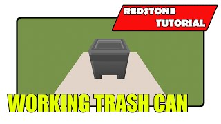 Working Trash Can (minecraft Xbox Tu21/playstation Cu8)