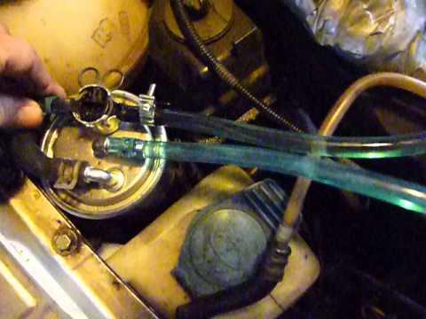 Air in fuel line, 2003 Jetta TDI