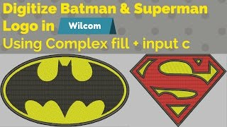 Digitize using complex fill + input C tool in wilcom-embroidery digitizing