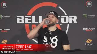 Cody Law #Bellator254 post fight interview