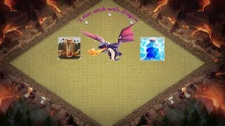 clash of clans | coc new update comedy movie animation commercial attacks th8 war base with dragon